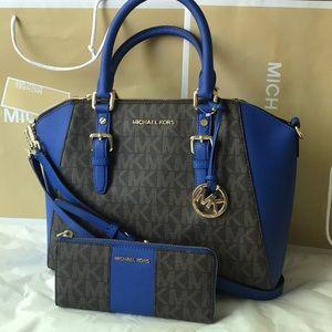 💎🎆mk Satchel set💎crossbody/Ciara & wallet